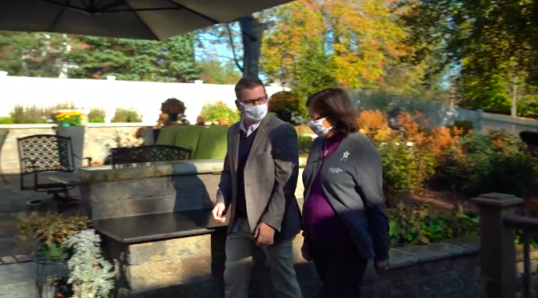 Brother Michael Russell and Lady Monica Chat about the White Flower Society at Her Home in Lexington, MA