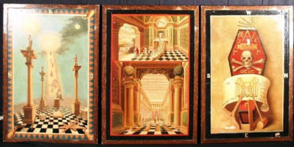 Masonic tracing boards used for teaching the different degrees (Provincial Grand Lodge of Middlesex)