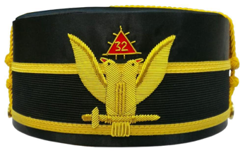 Scottish Rite cap with double headed eagle